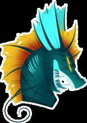 .:Dragon Qursai Headshot:. by Uncanny-Illustrator