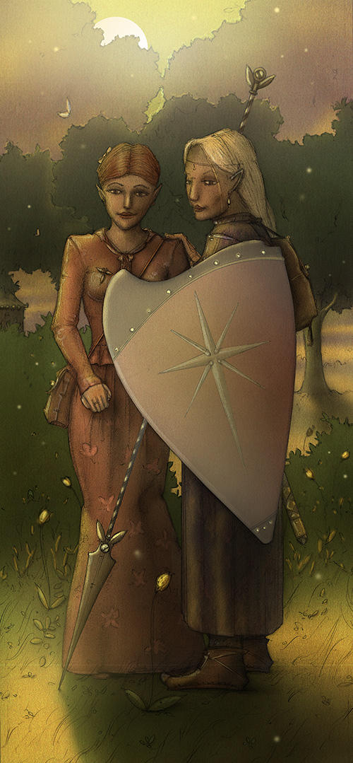 Two Elf Maids by Si1verange1