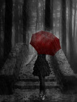 The Red Umbrella by TSWright