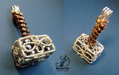 Mjolnir pendant by DeeArtist by DeeArtist321