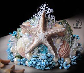 Blue Mermaid Crown by DeeArtist321