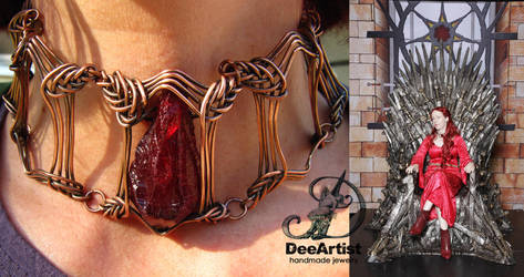 Melisandre Game of Thrones necklace by DeeArtist by DeeArtist321
