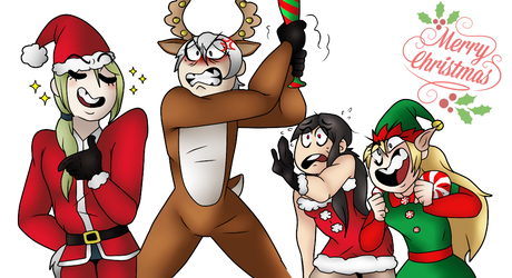 A Very Merry Christmas (Drawthesquad) by SilverWingPrime