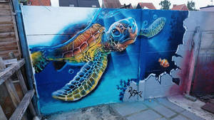 Second graffiti attempt by NeverGonnaTakeMe