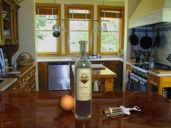 Wine Bottle 3D Render by n3uromanc3r