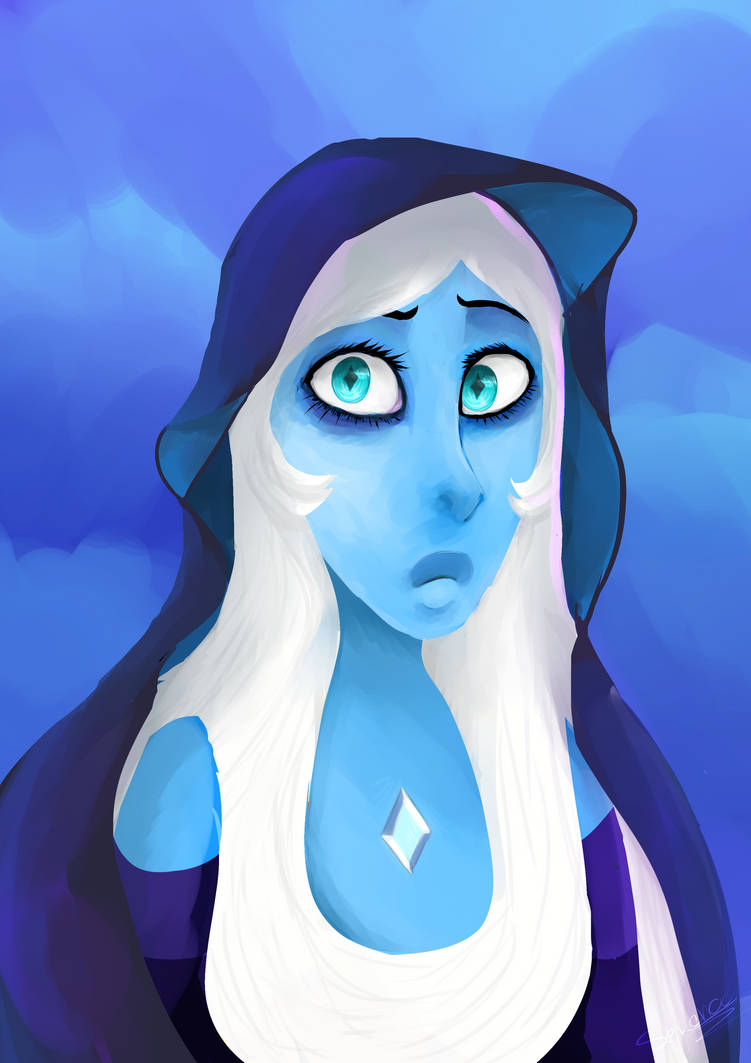 here's a blue diamond art by me