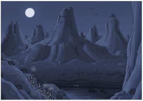 bleu nuit by gribouille