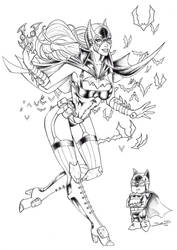 Batgirl steampunk ver. by BassP-illustrations