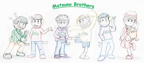 OSMT: -COLLAB 2016- Sextuplets by Nintendrawer