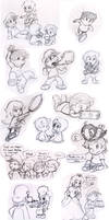 Commish: Mario kids by Nintendrawer