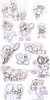 Commish: Mario kids by Nintendrawer