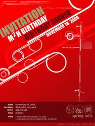 birthday invitation 2006 by maifaun