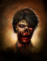 Zombie sketch by RodgerPister