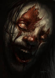 Evil Clown Speed Paint by RodgerPister