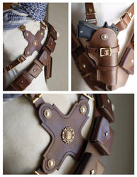 Uncharted 3 Leatherwork by OrangeMoose