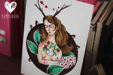Raspberry lady by LucyBumpkinova