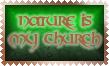 Nature is my Church Stamp by Leathurkatt-TFTiggy