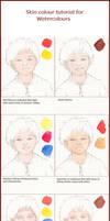 Skin Colour Tutorial for Watercolours by Leochi