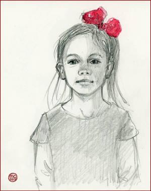 Red Hair Bow ODOS 16 by Leochi