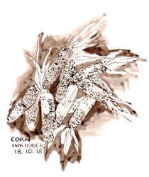 Inktober 18 Corn by Leochi