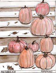 Inktober 28 Pumpkins by Leochi