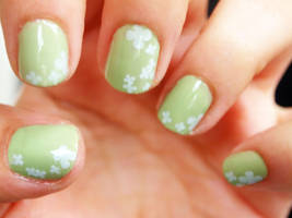 Fields of clover or st paddy day nails by notannounced