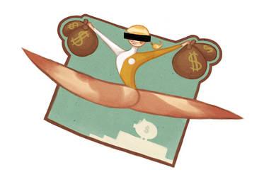 Gymnastic Heist by Ionahipri