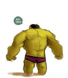 Hulk : Day at the Beach by Ionahipri