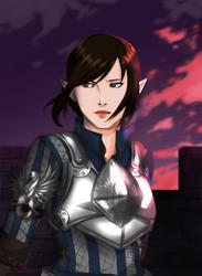 DA:: Tabris Warden Commander by Serahime-Hana