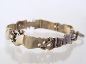 Hinged Rough Bracelet by deaddamien