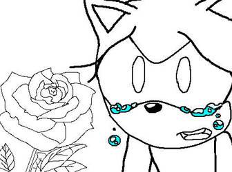 Female Crying Sonic Base 8 by Helen-RubiTH