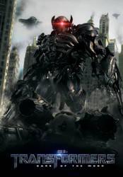 Transformers DOTM poster: Shockwave by UntamableBeast