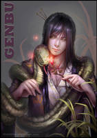 GENBU AND THE SNAKE by FitriaDes