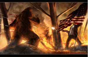 Teddy Roosevelt VS. Bigfoot by SharpWriter