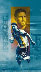 Messi - Argentina Wallpaper by Kerimov23