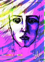 Face - Magenta Sadness by Hiox