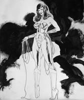 BETTIE PAGE WONDER WOMAN by synthetikxs