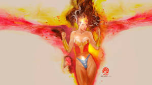 Wonder-woman-amazonian-glamslam-wallpaper by synthetikxs