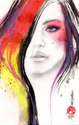2017-feb-06-bb-rainbow-portrait+ink-FINAL-WEBREZ by synthetikxs