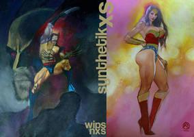 Wolverine.10.17wips.nxs.wonder Woman by synthetikxs