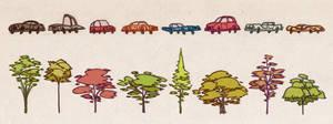 Cars and trees. by larolaro