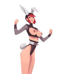 Comm02 - Bunny Girl by larolaro