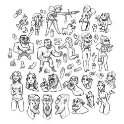 Doodles by larolaro