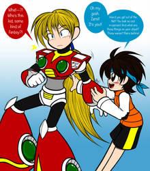 Zero's Little Fanboy by MewKwota