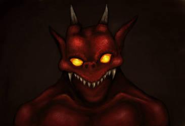 Devil's smile by Nelson-Tux