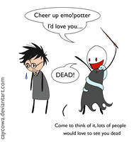 HP - Cheer up emo potter by caycowa