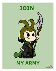 Loki - Join my army by caycowa