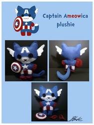 Captain Ameowica Plushie by caycowa
