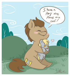 MLP - I have a pony now, ponies are cool! by caycowa