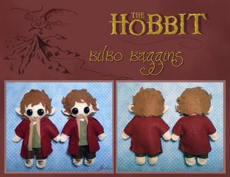 The Hobbit - Bilbo Baggins plushie by caycowa